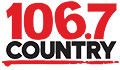 106.7 Country logo